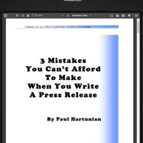 Download Paul Hartunian - Million Dollar Publicity Kit