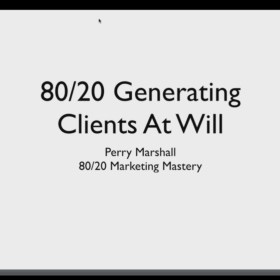 Download Perry Marshall - 80/20 Marketing Mastery