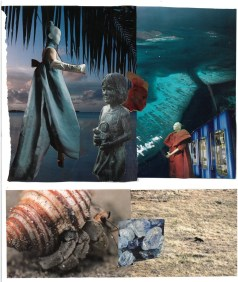 Scenographic Design Collage for Turtle Play (By JBWC Students)