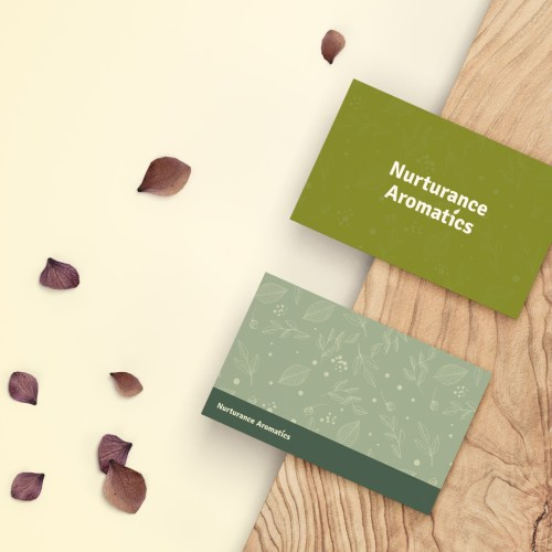 Nurturance Business Card Mockup