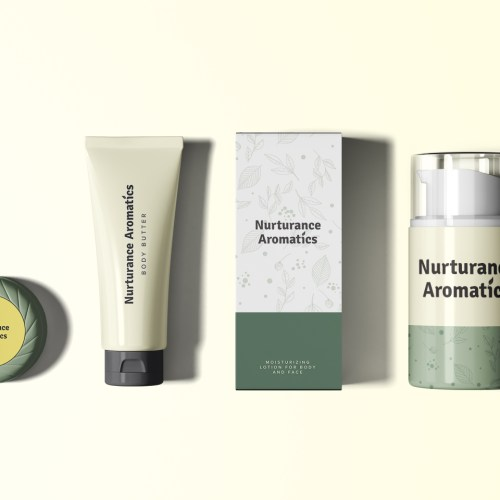 Nurturance Cosmetics Packaging Set Mockup