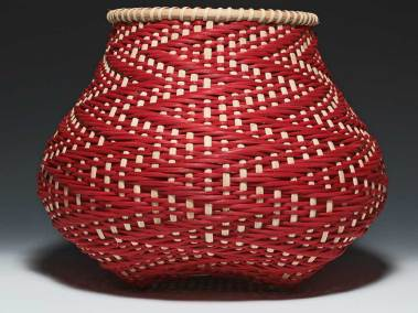 Crimson Tide Basket by Billie Ruth Sudduth