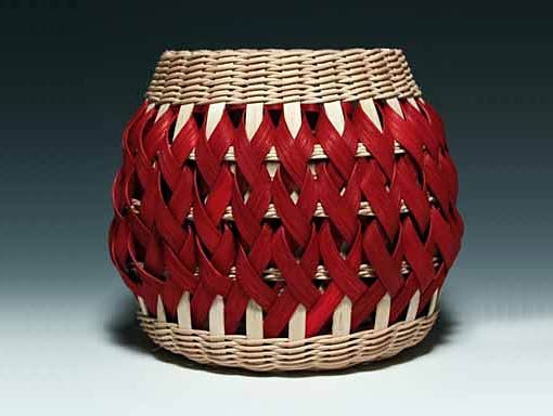 Photo of Penland Pottery Basket in Walnut and Red