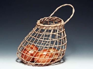 Walnut Onion Basket by Billie Ruth Sudduth