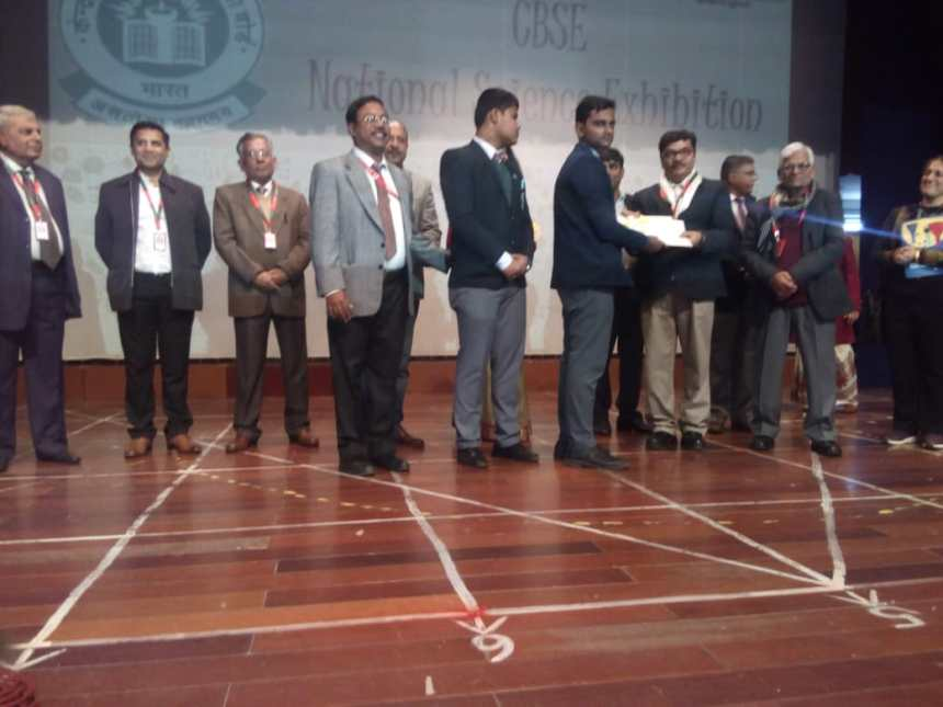 CBSE NATIONAL SC. EXHIBITION 2020 (First Prize)