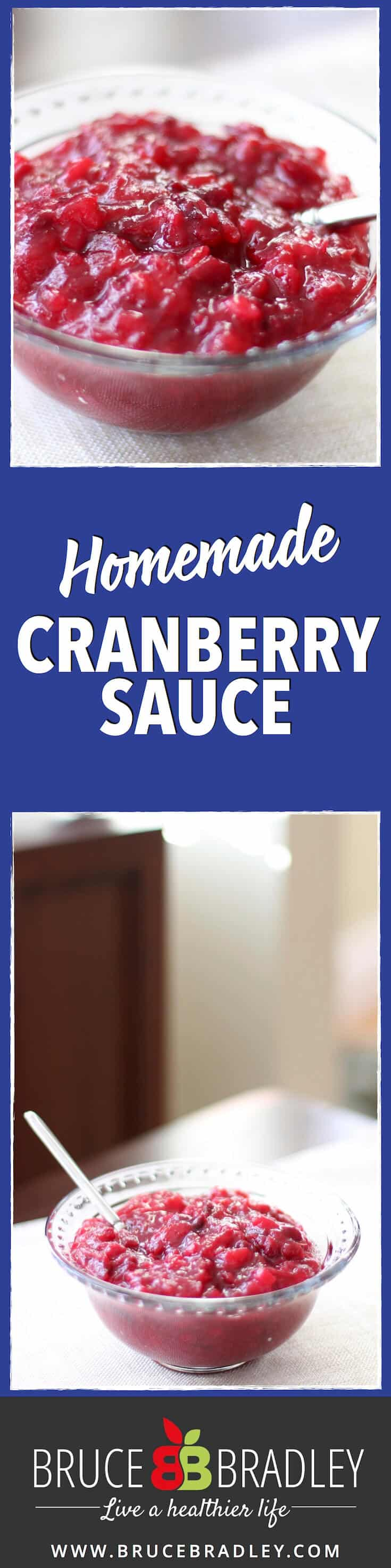 Ditch the canned cranberry sauce that's filled with sugars, high fructose corn syrup, and potentially packed in BPA lined cans. You can do better! Make your own!