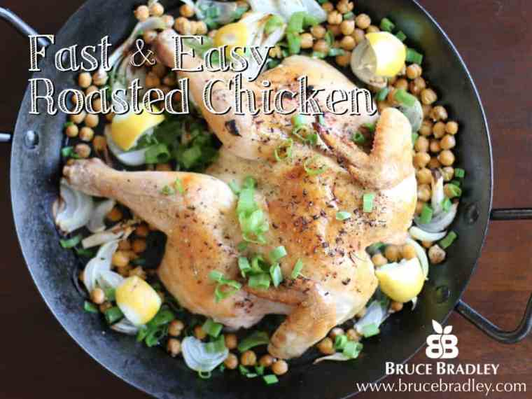 This fast and easy roasted chicken will be your new, go-to favorite recipe