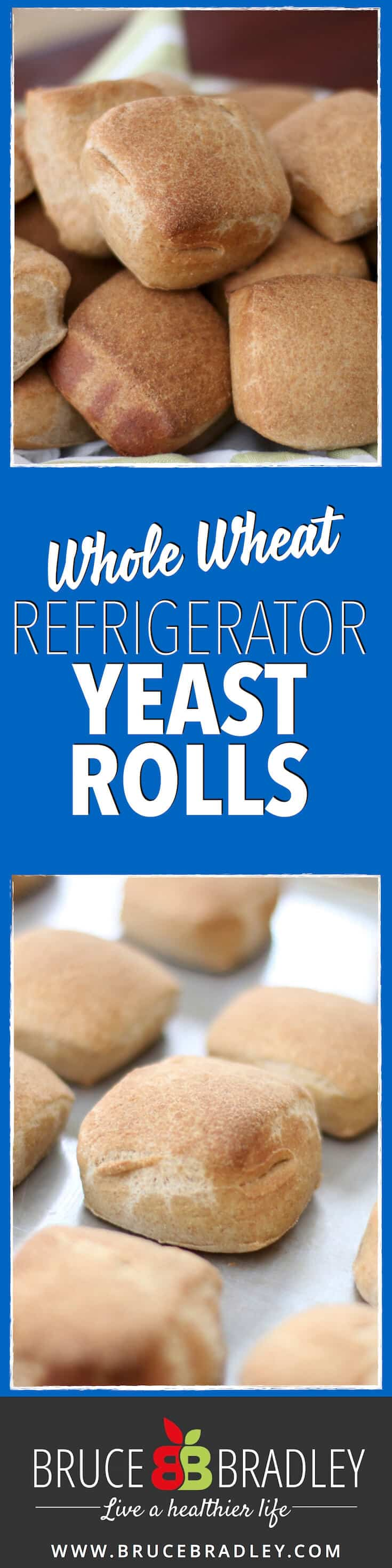 Skip the fake, store-bought refrigerated rolls and switch to a homemade, make-ahead, whole wheat yeast roll that will wow your entire family!