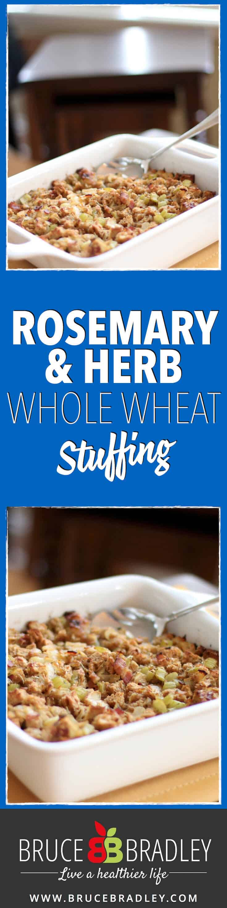 Ditch the bagged stuffing mixes and choose a REAL food version of this Thanksgiving holiday side dish ... Rosemary and Herb Whole Wheat Stuffing