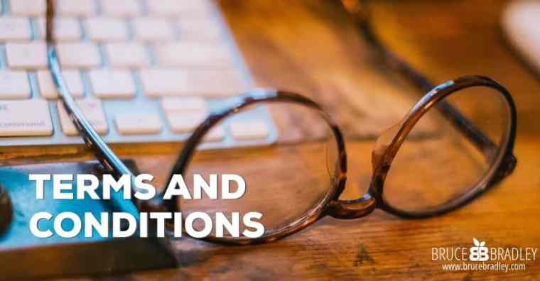 terms and conditions for brucebradley.com