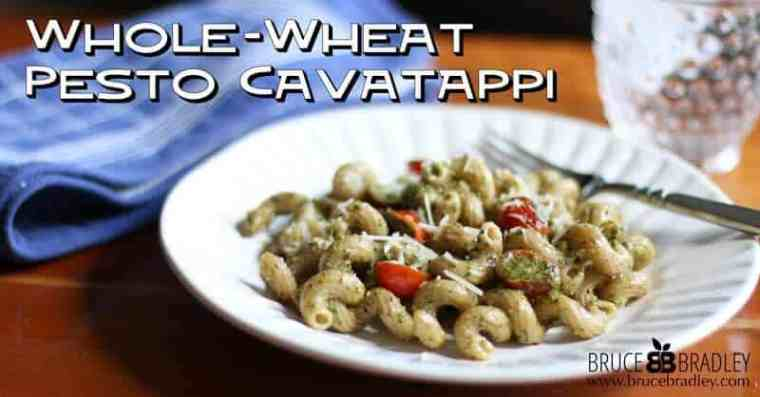 A whole-wheat, 100% real version of Noodle and Company's classic Pesto Cavatappi.