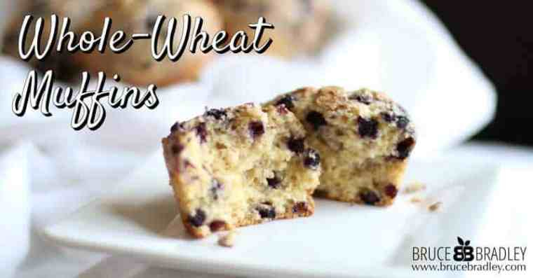 Bruce Bradley's Whole-Wheat Muffin recipe blueprint is the perfect base for all your favorite kinds of muffins and uses 100% real ingredients!