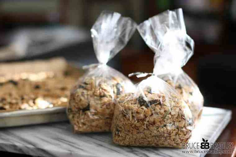 Bruce Bradley's Cherry Almond Granola makes a perfect holiday gift from your kitchen that's made with 100% real ingredients!