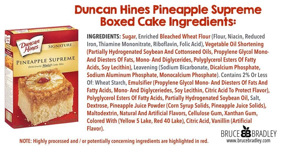 Duncan Hines Cake Mix Ingredients List