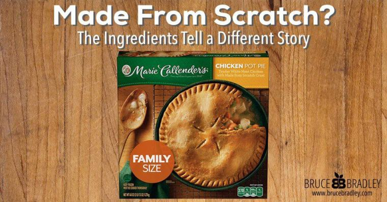Although Marie Callender's Chicken Pot Pie claims to be prepared from scratch, a closer look at its ingredients tells a different story!