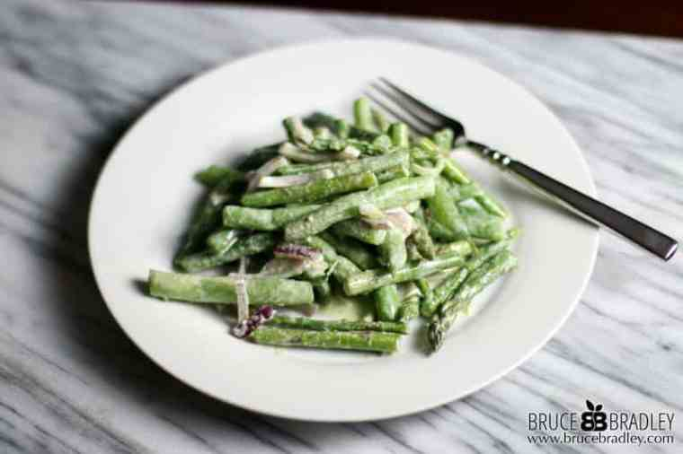 My Asparagus and Green Bean Salad proves that two great tastes can taste even better together! So delicious and easy, it's perfect for any night of the week!