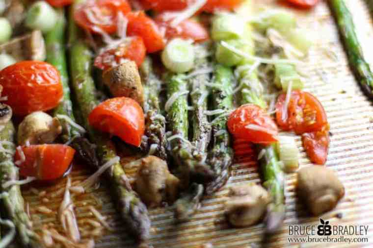 Want a side dish that looks like it took hours to prepare, but only took minutes? Then try my delicious Roasted Asparagus with Tomatoes and Mushrooms!