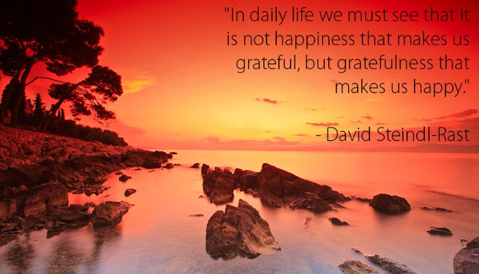 Sunset - David Steindl-Rast Quote
