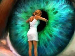 giant eye art