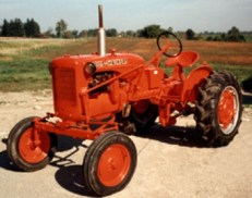 1999 1950 Allis Chalmers model CA farm tractor Winner - Dave Woodman, Wolfe Island