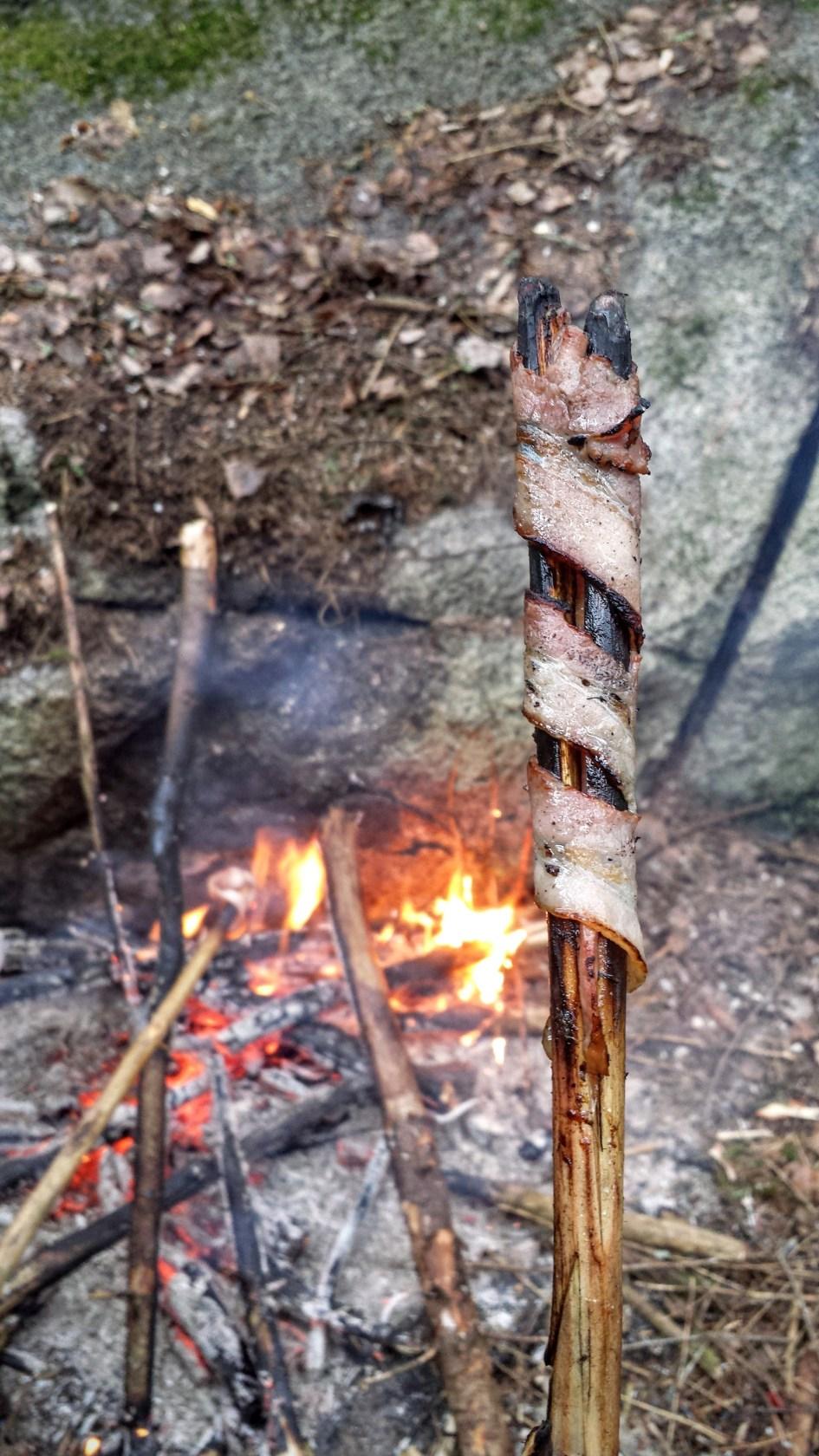 bacon round a stick