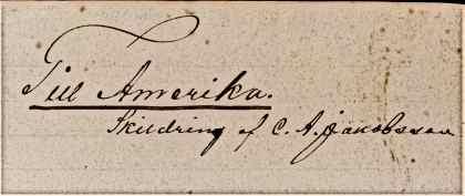 Till Amerika C.A. Jacobsson