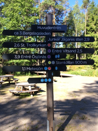 Great trail directional sign post.