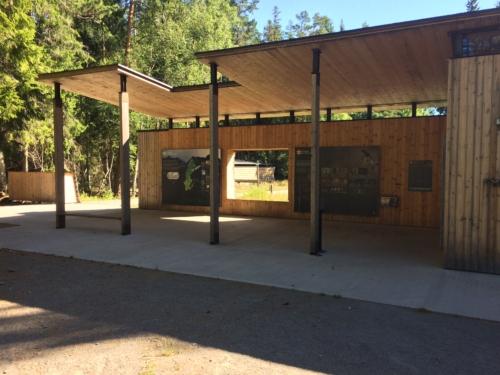 Open-air interpretive pavilion.