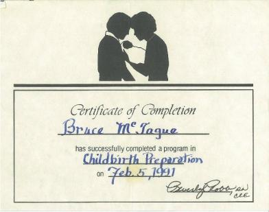 childbirth certificate
