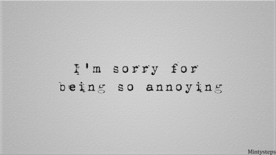 annoying apology
