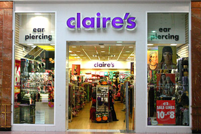 small business claires store