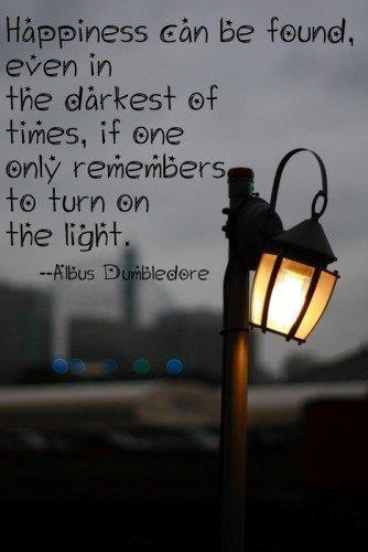 darkness turn on light dumbledore