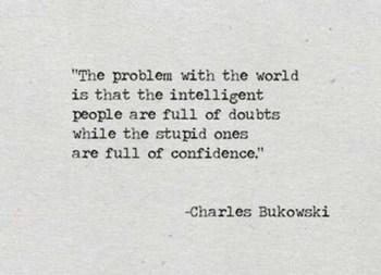 confidence stupid people