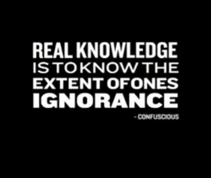 ignorant people understanding