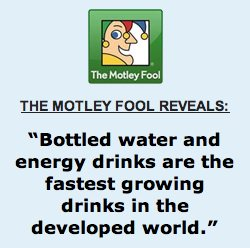 bottle water growth motley fool