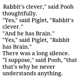 brain and clever pooh