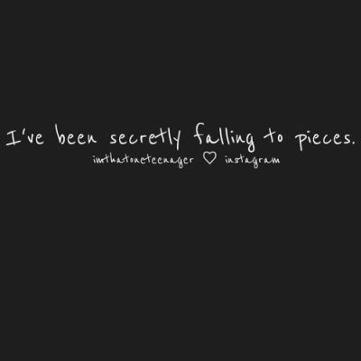 falling to pieces secretly