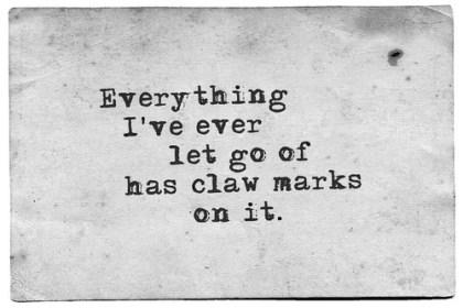 letting go claw marks