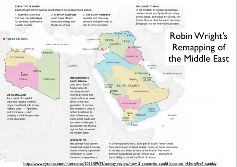 Middle East remapped explanation