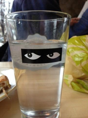 odd waiter glass