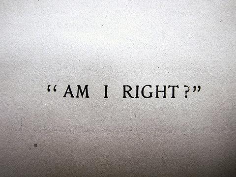 right am i
