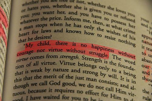 struggle and virtue