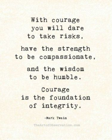 dare courage integrity