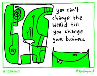 disrupt change world