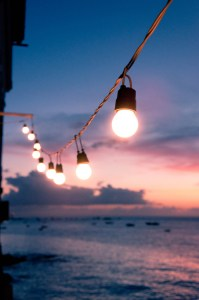 ideas and string of bulbs