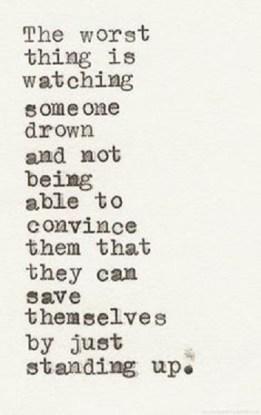 saving someone drowning
