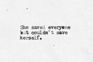 saving yourself