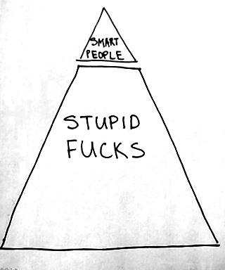 smart and stupid people