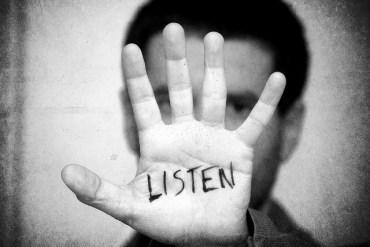 listen hand