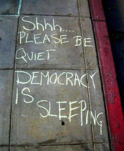 democracy is sleeping